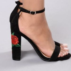 Rose heels from fashion nova